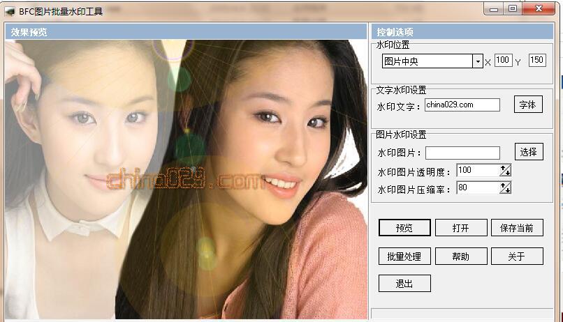 图片批量加水印软件
